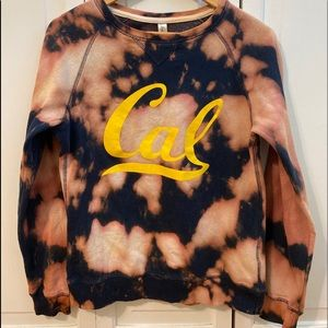 ✨ONE OF A KIND!! Hand bleached Cal Crewneck